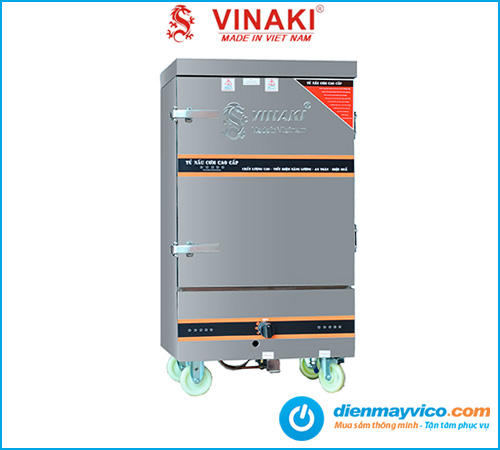 Tủ hấp cơm 6 khay dùng gas Vinaki