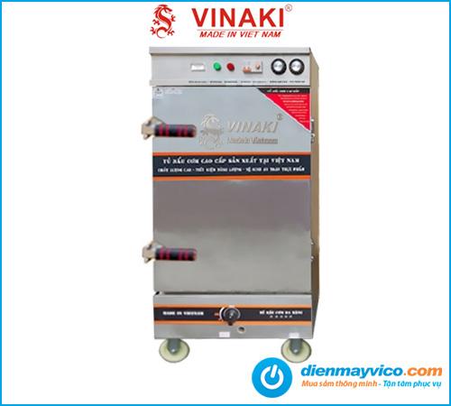 Tủ nấu cơm Vinaki 8 khay điện gas kết hợp
