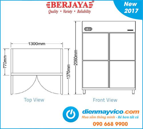 Tủ mát 4 cánh Berjaya BS4DUC/Z