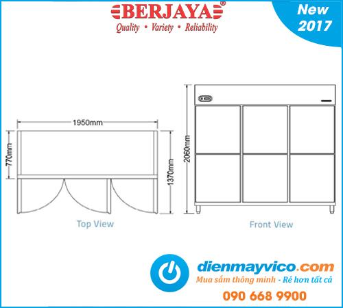 Tủ mát 6 cánh Berjaya BS6DUC/Z