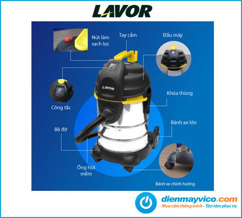 Máy hút bụi khô và ướt Lavor LVC 30XS