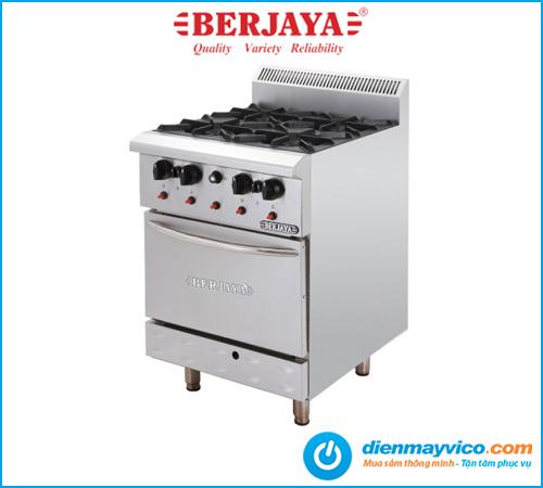 Bếp Âu 4 họng có lò nướng Berjaya DRO4-17