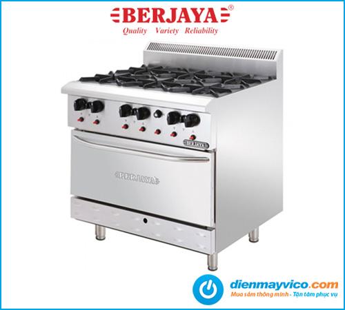 Bếp Âu 6 họng có lò nướng Berjaya DRO6-17