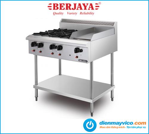 Bếp Âu 4 họng có bếp chiên phẳng Berjaya OB4GG1BFS-17