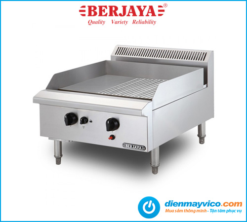 Bếp chiên nửa phẳng nửa nhám Berjaya GG2BHR-17 dùng gas