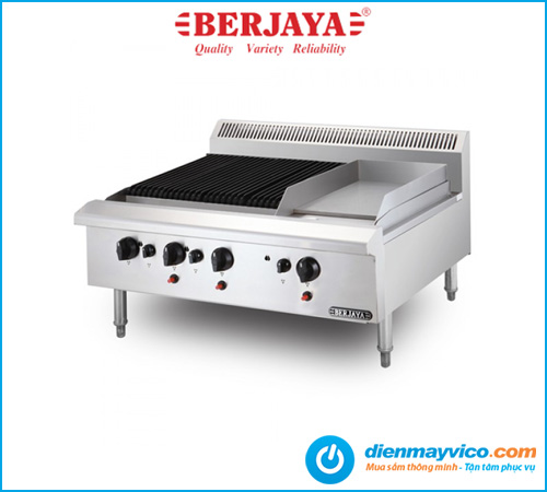 Bếp nướng có bếp chiên phẳng Berjaya CB3BGG1B-17 dùng gas