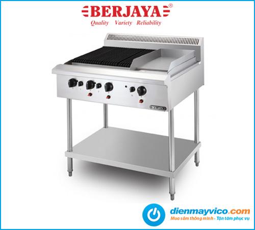 Bếp nướng có bếp chiên phẳng Berjaya CB3BGG1BFS-17 dùng gas