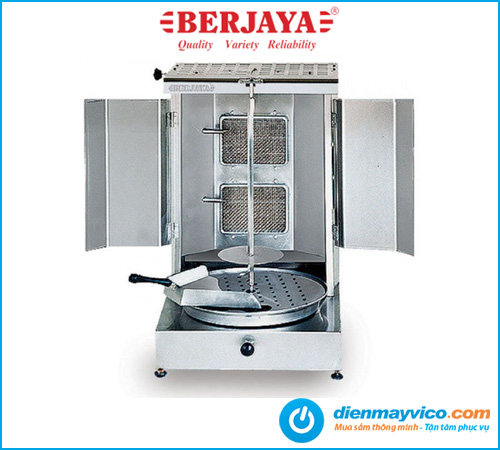 Lò nướng thịt kebab Berjaya KM2B dùng điện gas kết hợp