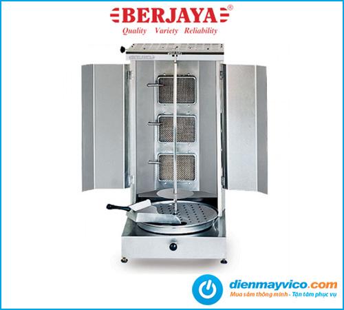 Lò nướng thịt kebab Berjaya KM3B dùng điện gas kết hợp