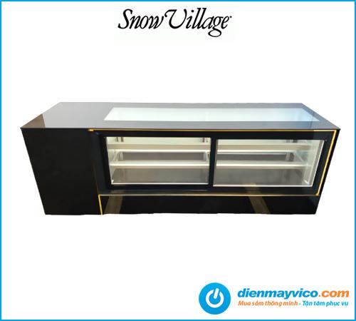 Tủ mát trưng bày Sushi Snow Village kính vuông 2m