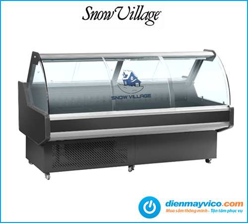 Tủ mát trưng bày thịt Snow Village Quạt lạnh 2m