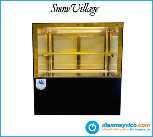 Tủ bánh kem để quầy kính vuông Snow Village 0.9m