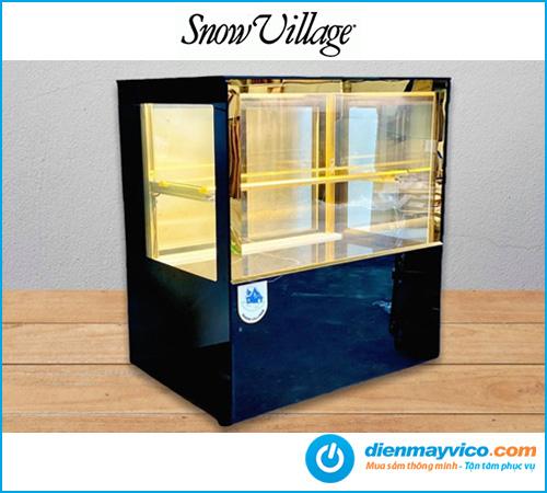 Tủ bánh kem để quầy kính vuông Snow Village 0.7m