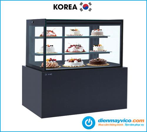Tủ bánh kem kính vuông KOREA 1m5