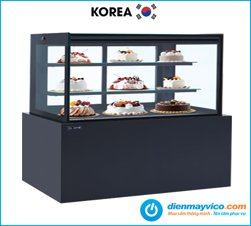 Tủ bánh kem kính vuông KOREA 1m8