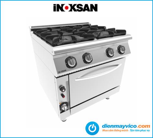 Bếp âu 4 họng có lò nướng Inoksan INO-7KG 23S