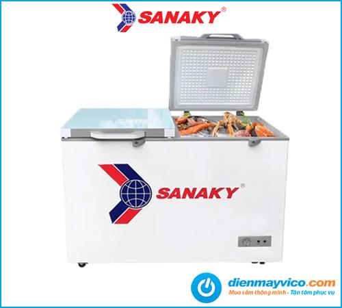Tủ đông kính cường lực Sanaky VH-3699A2KD 260 lít