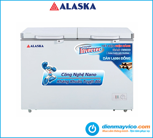 Tủ đông mát Alaska Inverter BCD-5568CI 372 lít
