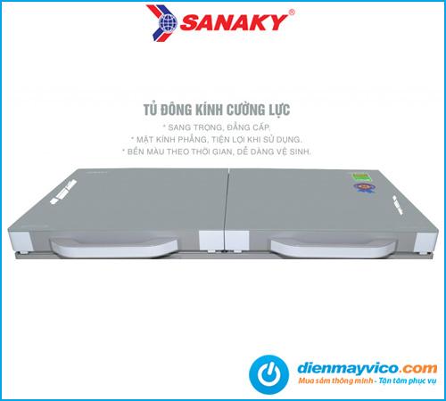 Tủ đông kính cường lực Sanaky Inverter VH-2599A4K 208 lít