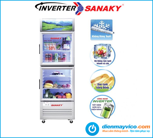 Tủ mát Sanaky VH-259W3L Inverter 200 Lít