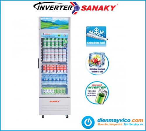 Tủ mát Sanaky VH-259K3L Inverter 200 Lít