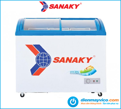 Tủ đông kính cong Sanaky VH-2899K 211 Lít