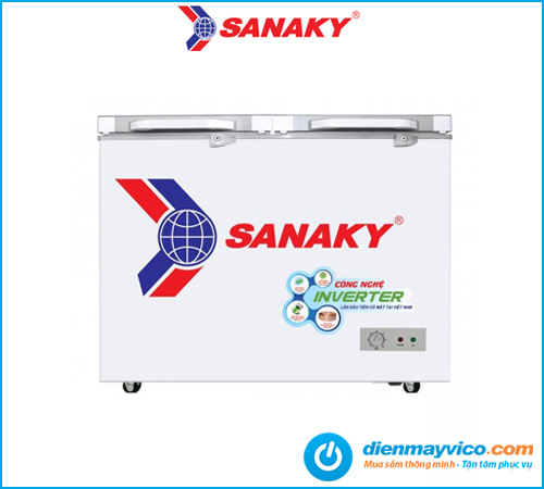 Tủ đông kính cường lực Sanaky Inverter VH-2599A4K 208 lít | Giá rẻ