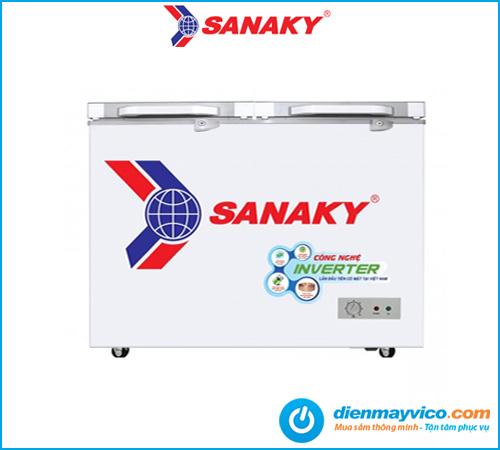 Tủ đông kính cường lực Sanaky VH-2599A2K 208 lít