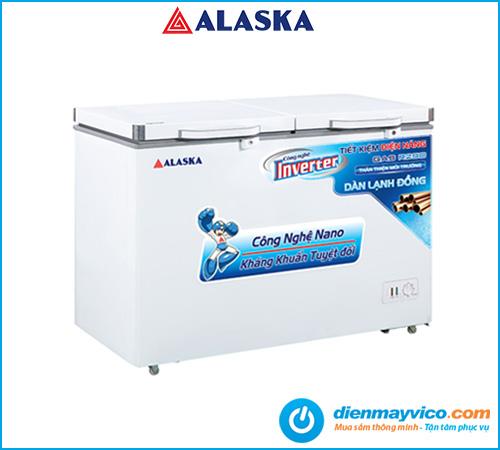 Tủ đông mát Alaska Inverter BCD-5568CI 372 lít   Bảo hành 24 tháng