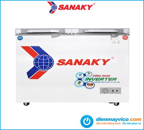 Tủ đông mát kính cường lực Sanaky Inverter VH-4099W4K 280 lít