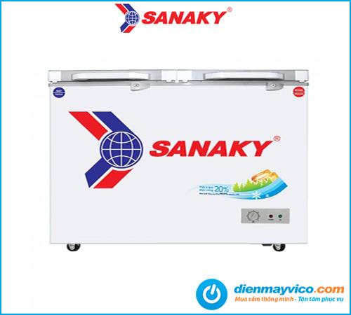 Tủ đông mát kính cường lực Sanaky VH-2899W2KD 230 lít