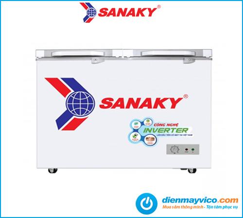 Tủ đông kính cường lực Sanaky Inverter VH-3699A4KD 270 lít