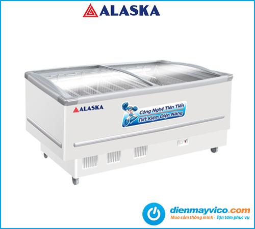 Tủ đông trưng bày kính cong Alaska KN-400 400 lít