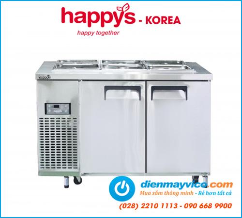 Bàn mát salad 1m2 Happys HWI-1200S-F full khay (có quạt)