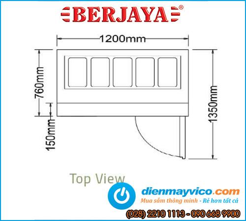 Bàn mát Salad Sandwich Berjaya BS1D/SSCF4/Z 1m2