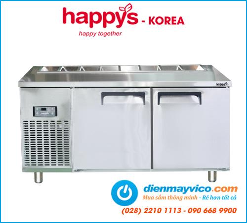 Bàn mát salad 1m2 Happys HWI-1200S-H half khay (có quạt)