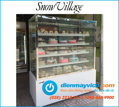 Tủ bánh kem kính vuông 1m8 Snow Village 5 tầng