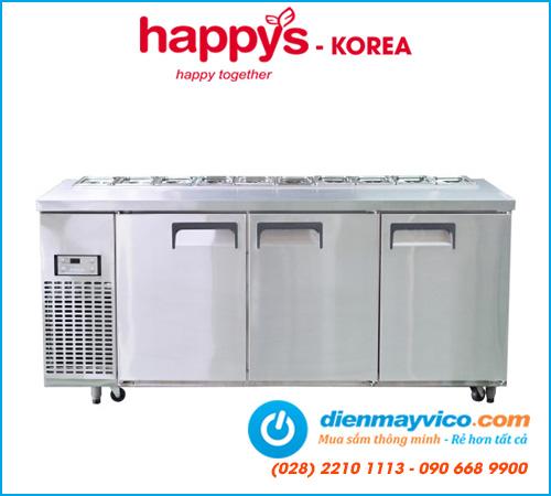 Bàn mát salad 1m8 Happys HWA-1800S-F (Full khay)