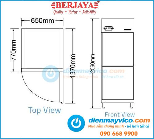 Tủ đông 2 cánh Berjaya BS2DUF/Z
