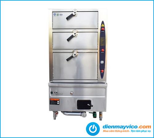 Tủ hấp hải sản 3 tầng dùng gas