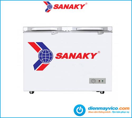 Tủ đông kính cường lực Sanaky VH-2599A2KD 208 lít | Bảo hành 2 năm