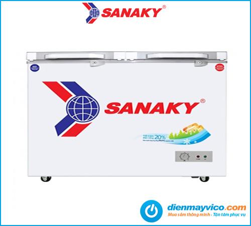 Tủ đông mát kính cường lực Sanaky VH-4099W2K 300 lít