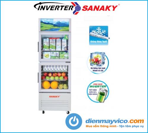 Tủ mát Sanaky VH-218W3L Inverter 170 Lít