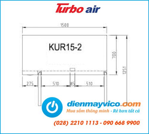 Bàn mát 2 cánh Turbo Air KUR15-2 (1m5)
